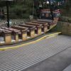 decking strips installed on a ride