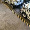 Hazard Strips installed on a ride