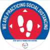 Example of the Social Distancing Decal