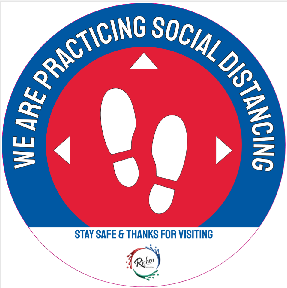 Richco Social Distancing Decal